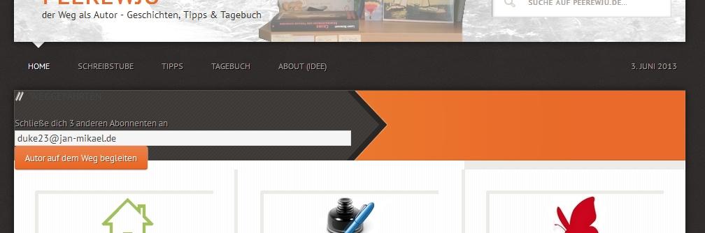 Subscribe2 Widget über Content
